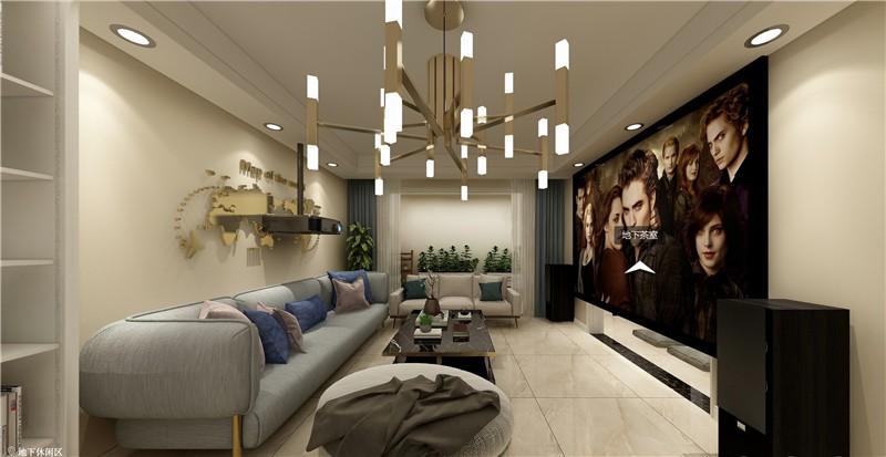 4室2卫2厅140平米现代简约风格