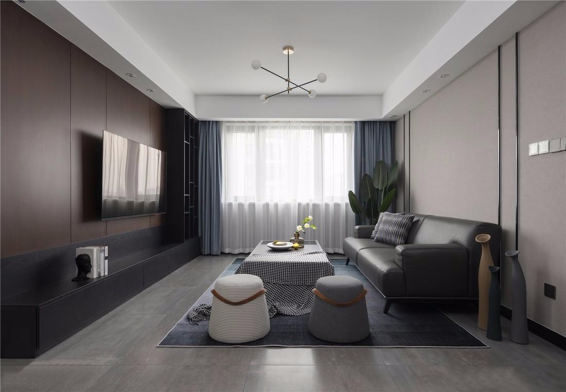 126平米现代主义四室装修效果图