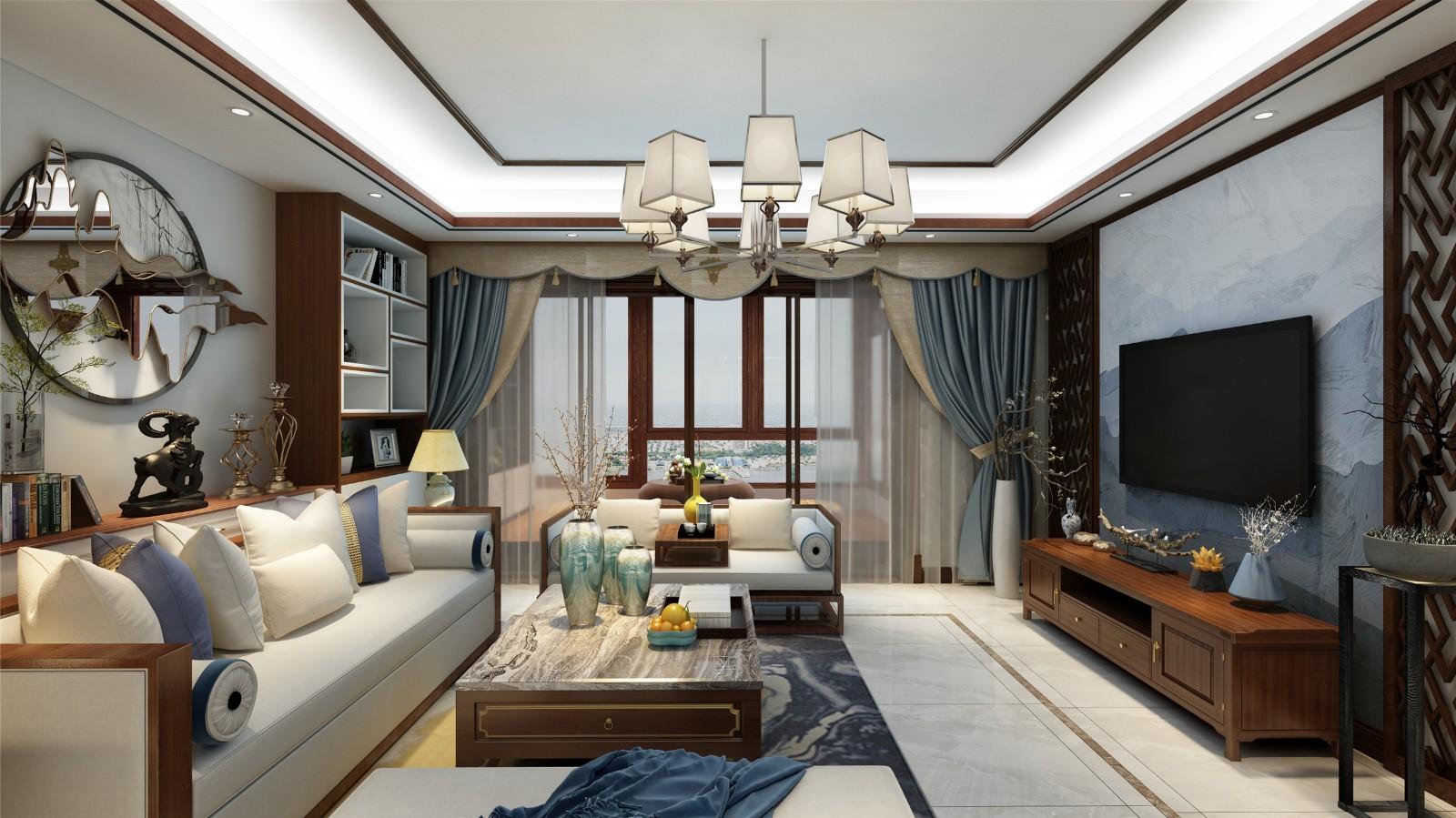 3室2卫1厅130平米新中式风格