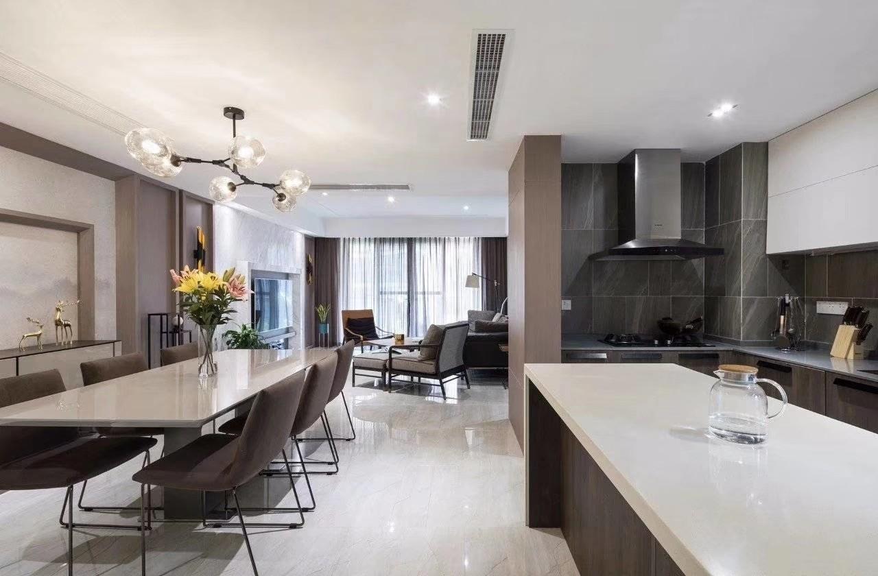 135平米现代简约风格三居室装修效果图