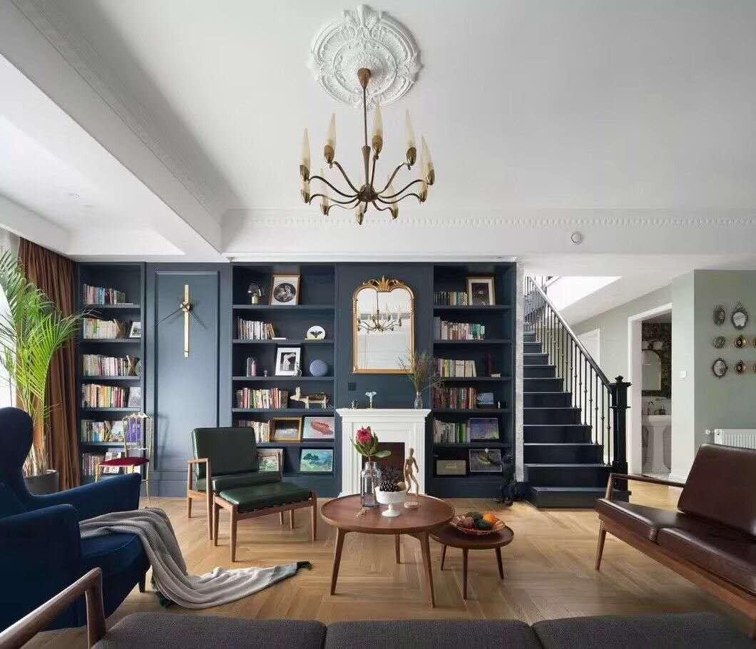 71平欧式风格大户型客厅效果图
