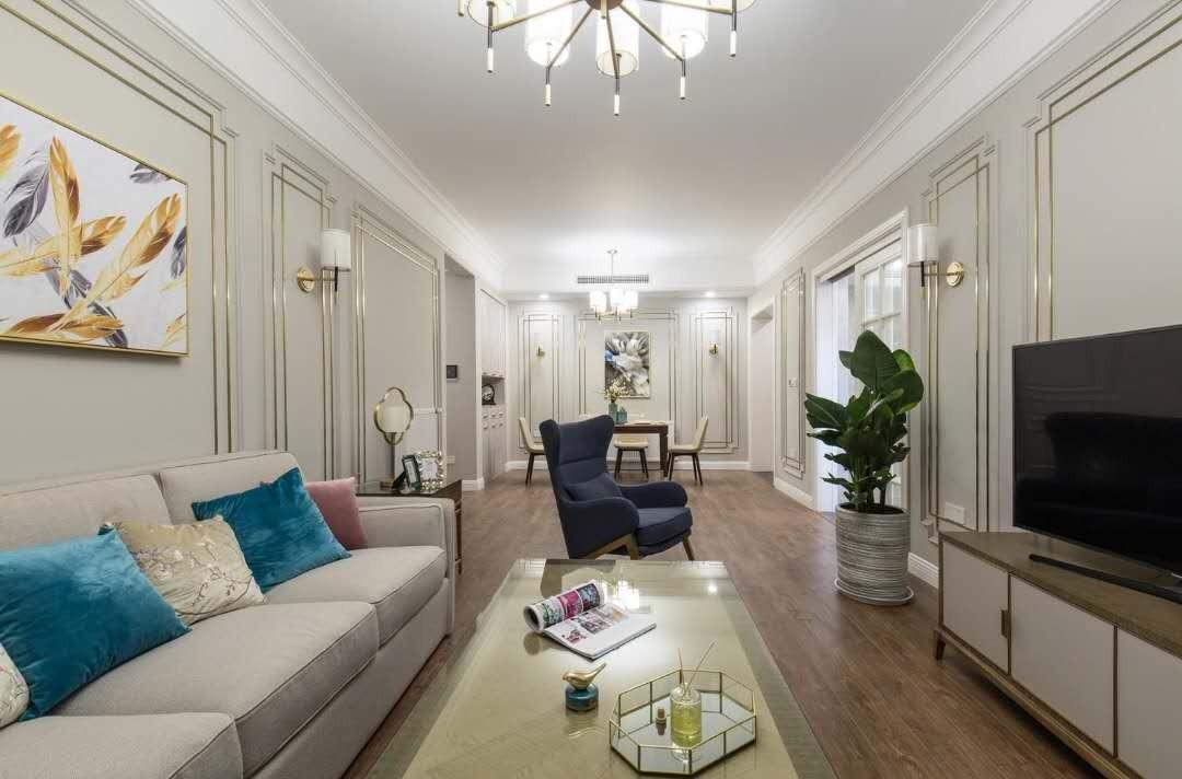 2室2卫2厅108平米新中式风格