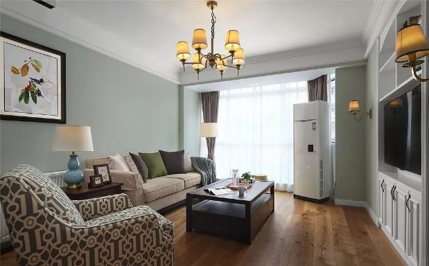 130平浪漫美式风格三居室案例欣赏