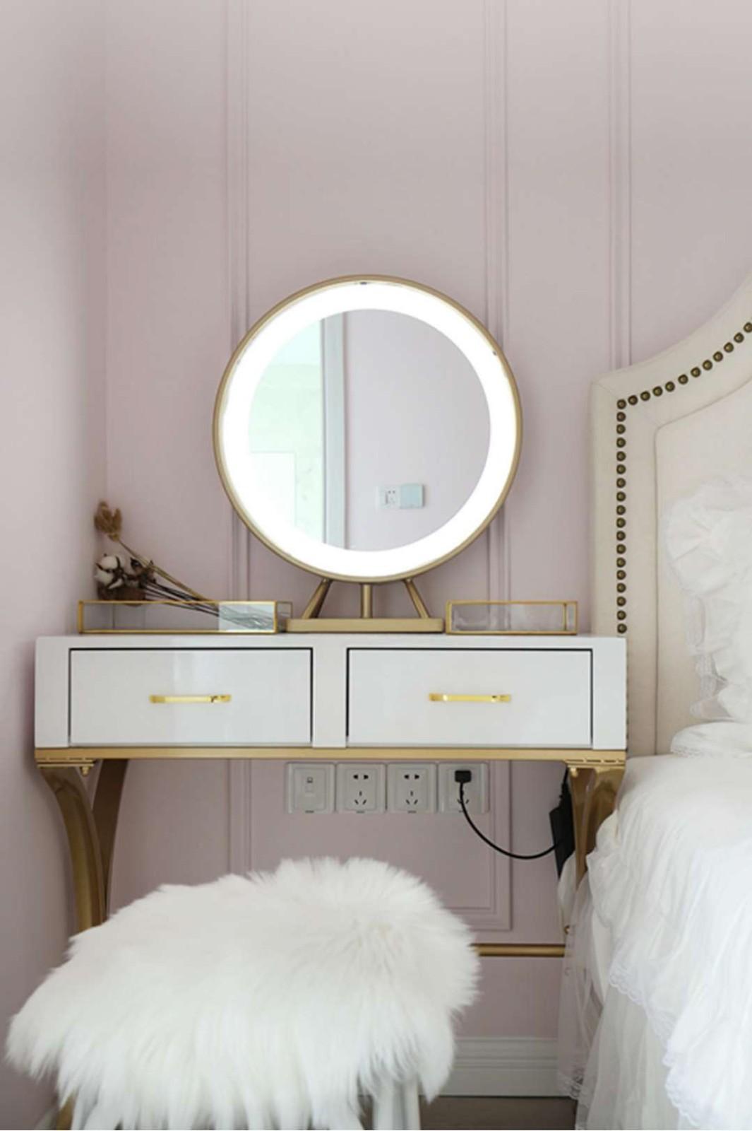 2019美式卧室装修设计图片 2019美式梳妆台装修设计