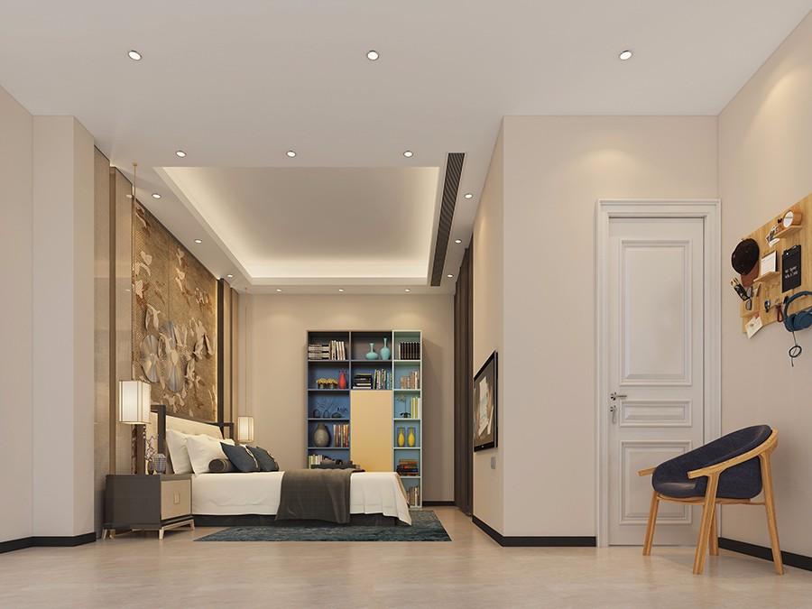 2021现代中式卧室装修设计图片 2021现代中式吊顶效果图