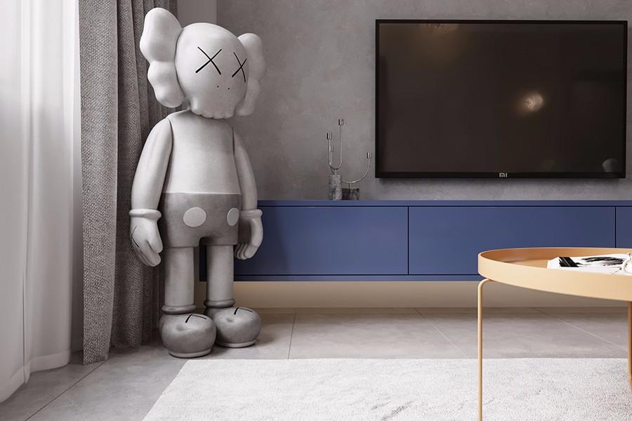 2020工业客厅装修设计 2020工业电视柜装修效果图片