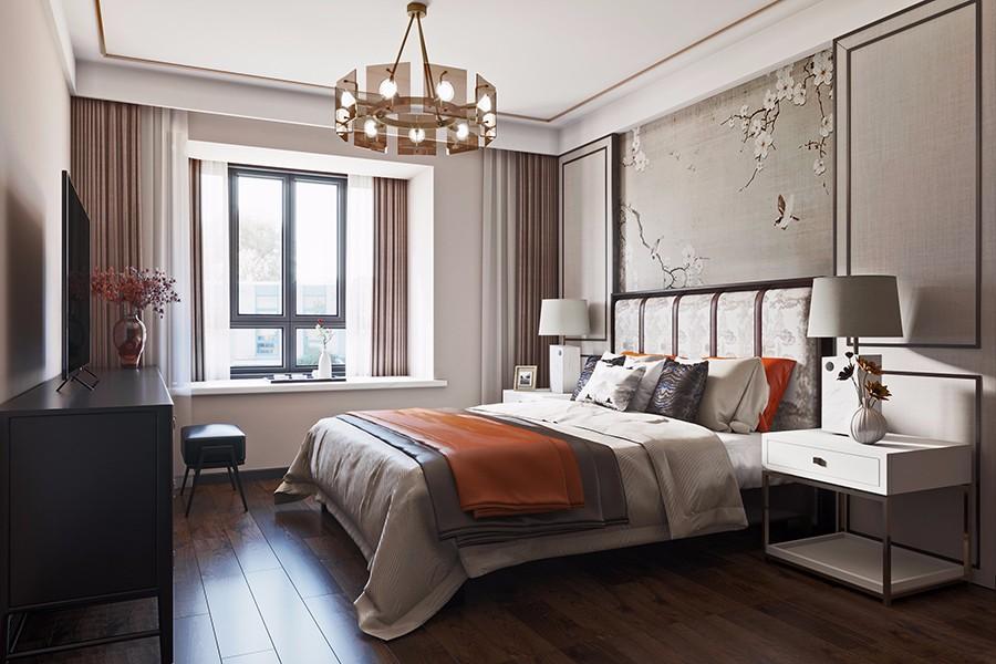 2021现代中式卧室装修设计图片 2021现代中式飘窗装饰设计