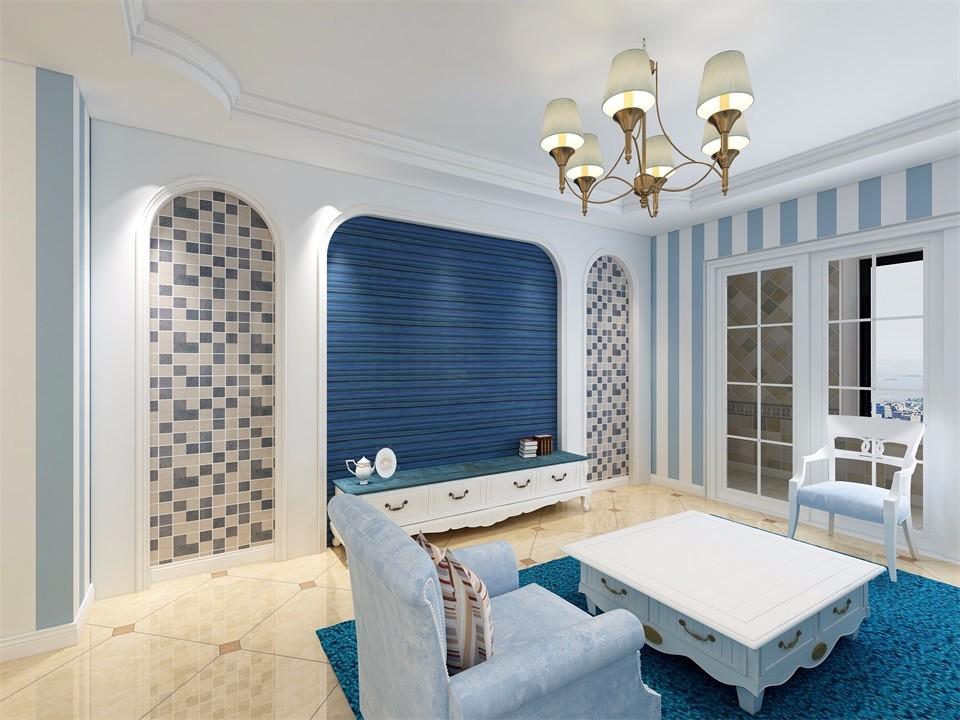 2020地中海90平米裝飾設計 2020地中海三居室裝修設計圖片