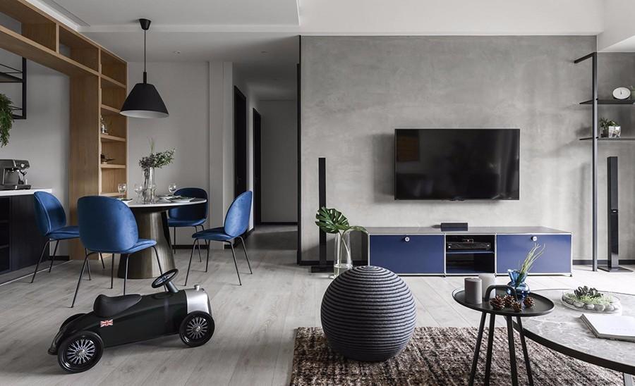 2020工業150平米效果圖 2020工業三居室裝修設計圖片