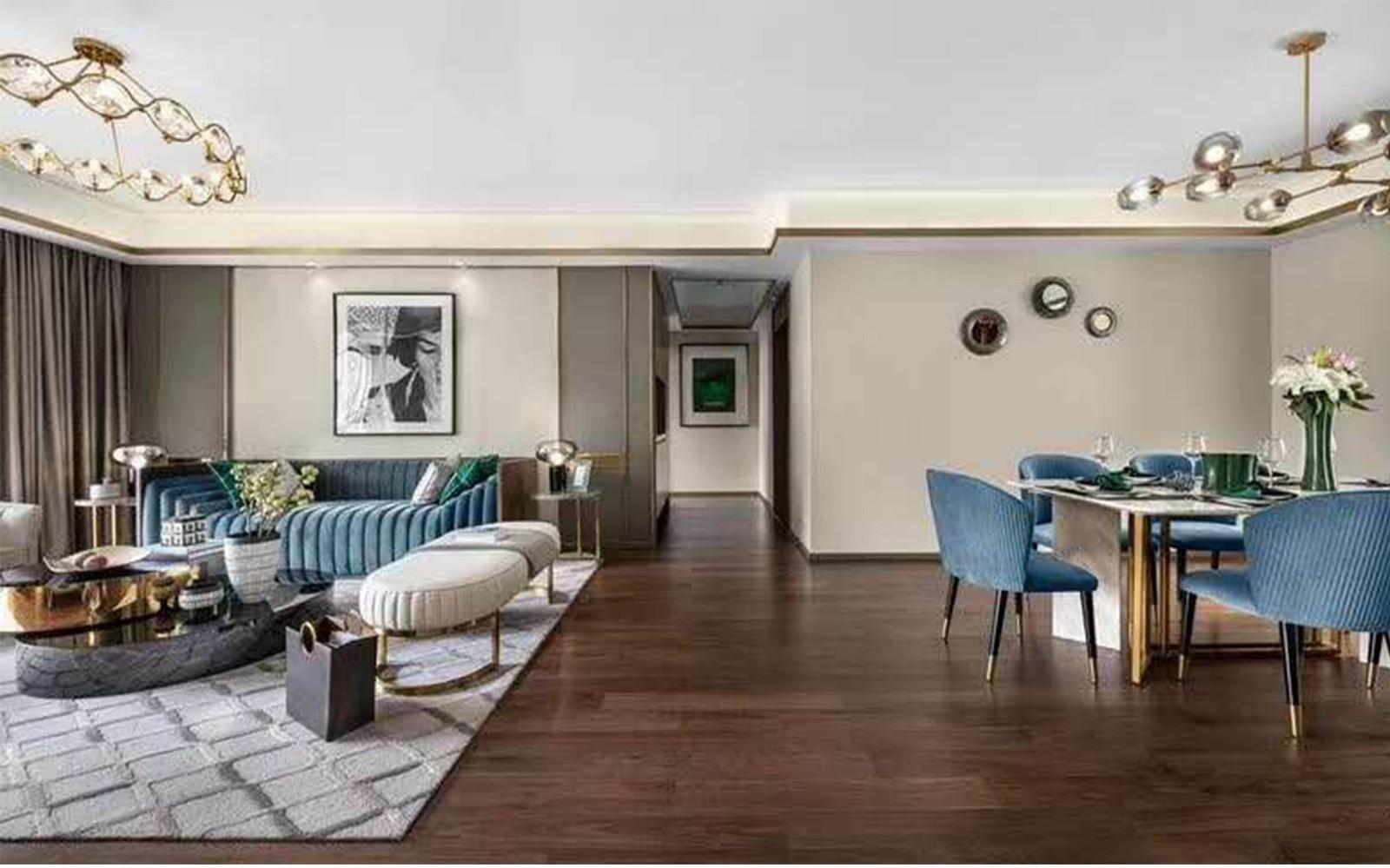 2019现代起居室装修设计 2019现代落地窗装饰设计
