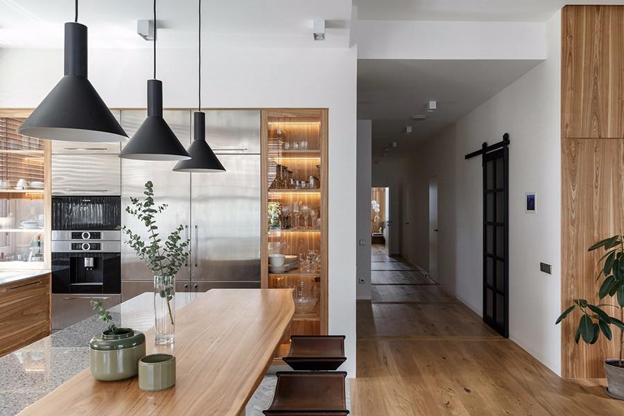 2020现代简约客厅装修设计 2020现代简约隐形门装修效果图片