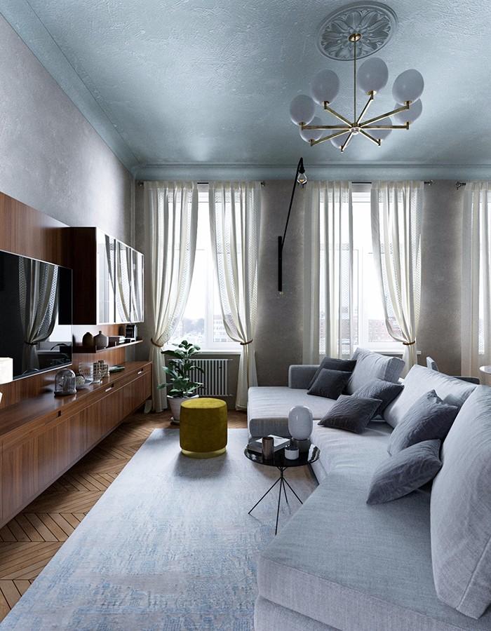 150平米現代簡約風格三房裝修效果圖
