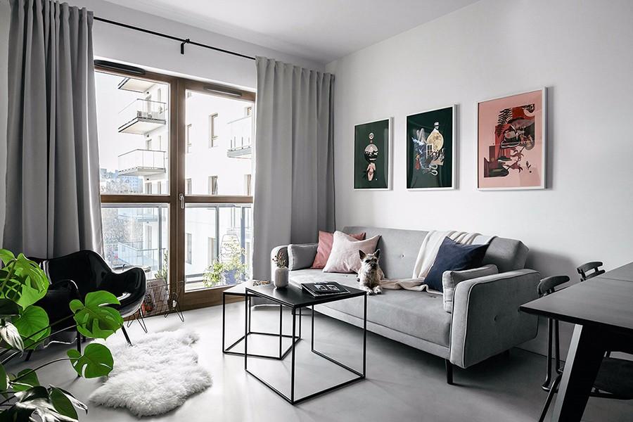 1室1卫1厅66平米简欧风格