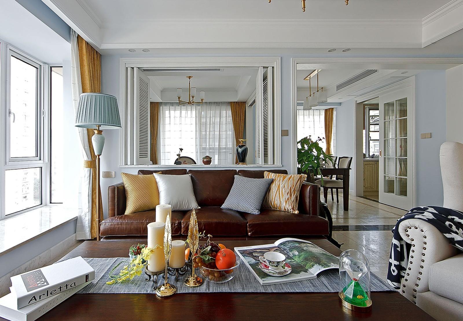 108平方米美式風格二居室裝修效果圖