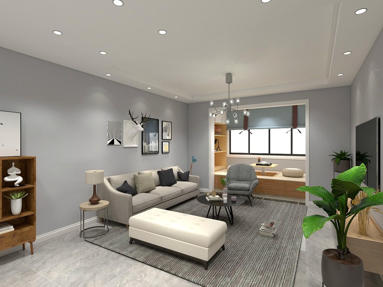132平米現代風格四居室11萬效果圖
