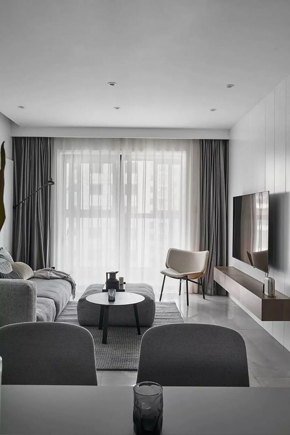 2室1卫2厅92平米现代风格