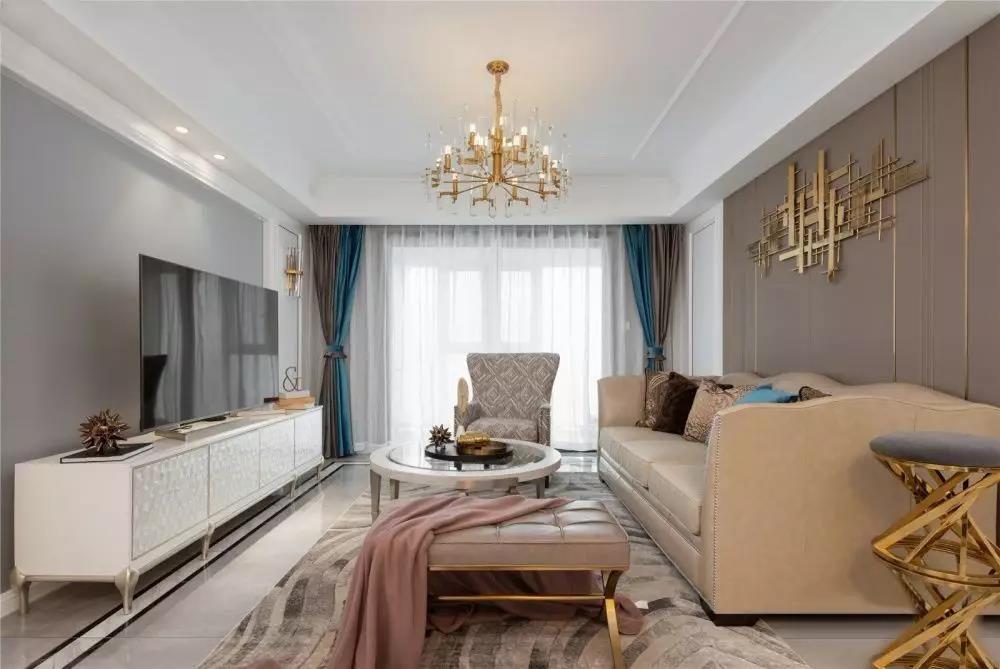 130平轻奢u乐国际娱乐城3室2厅精致与浪漫图片