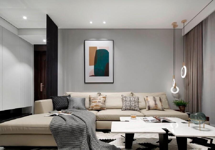 108平方米混搭风格二居室装修效果图
