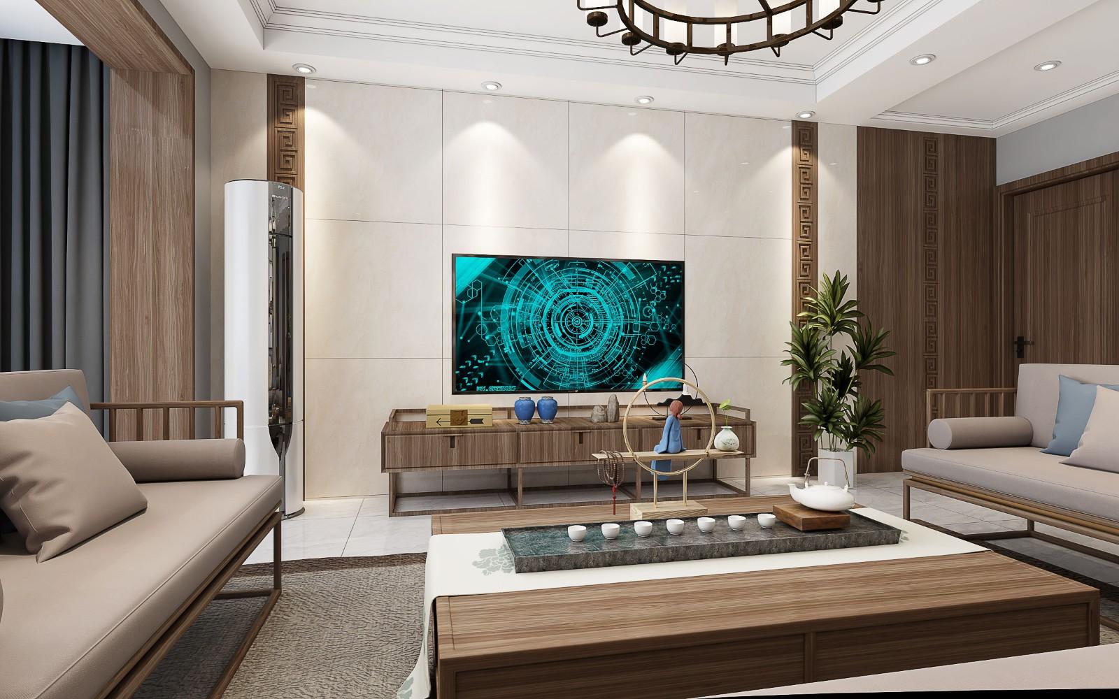 锦绣半岛新中式风格127平3室2厅1卫