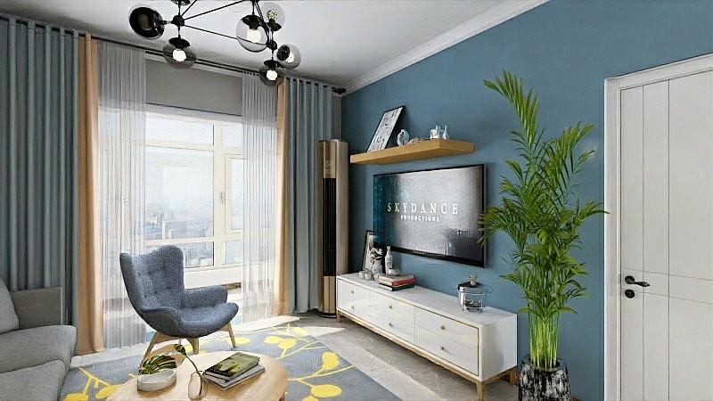 2020北歐客廳裝修設計 2020北歐電視柜裝修效果圖片