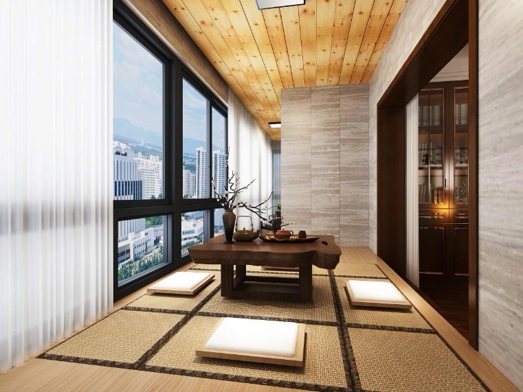 160平三居室簡約風陽臺裝修圖片欣賞