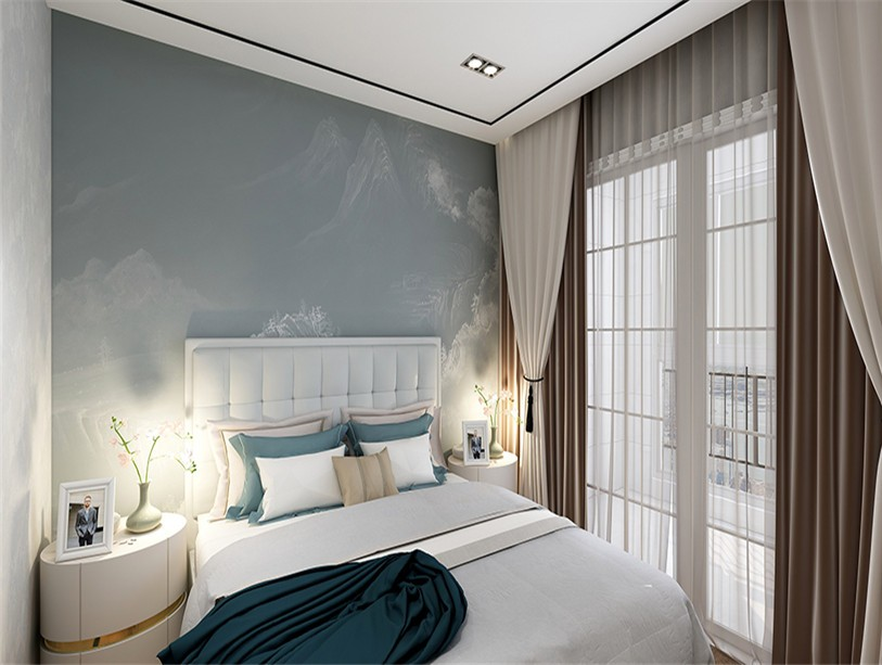 2019现代卧室装修设计图片 2019现代落地窗图片