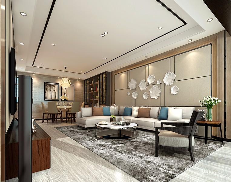 154平現代大戶型客廳裝修效果圖