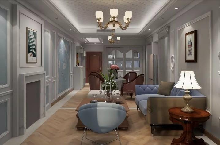 和平家園89平美式三室裝修效果圖