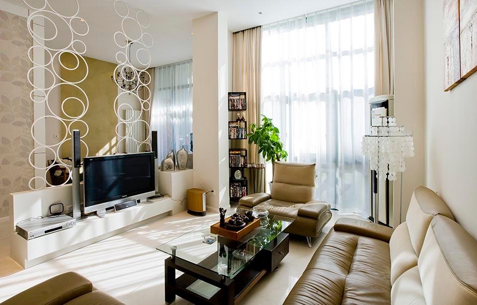 200平米現代簡約三居室裝修效果圖