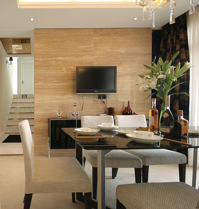 100平米现代简约二居室装修效果图