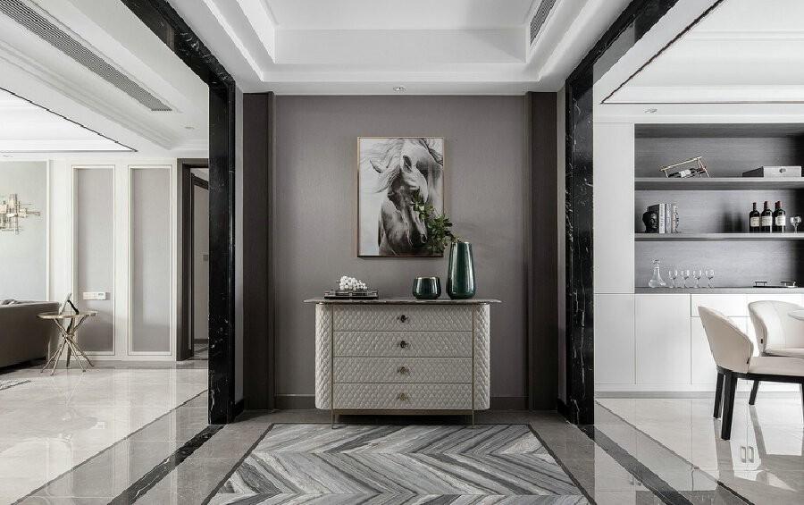 精選120平現代輕奢風格黑白灰套房圖片