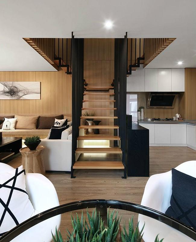 2019现代简约客厅装修设计 2019现代简约楼梯装修设计
