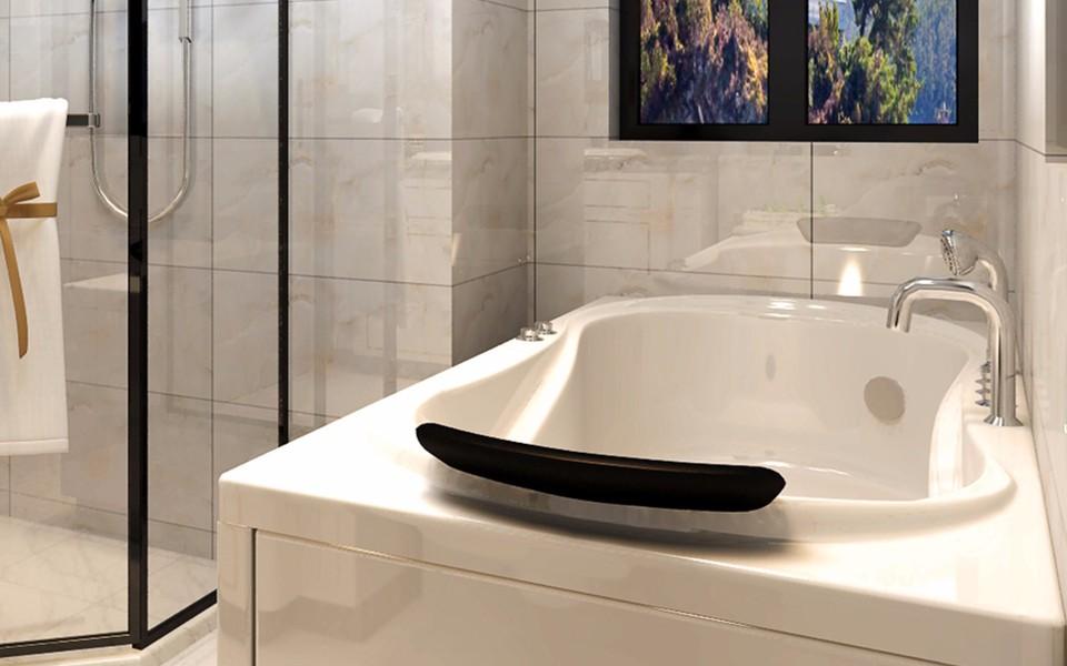 2020现代中式卫生间装修图片 2020现代中式洗漱台装饰设计