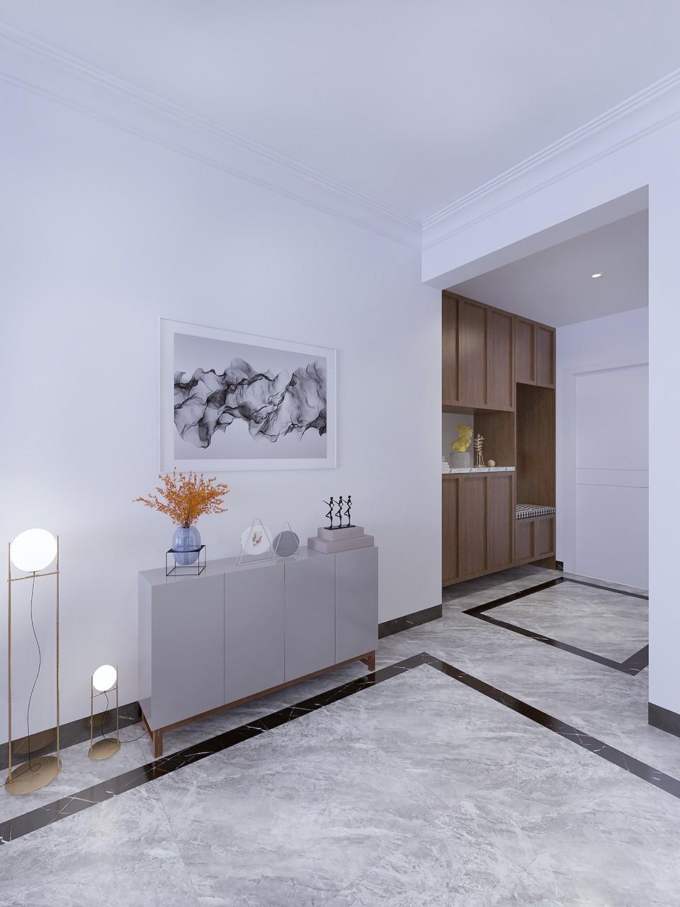 2019现代简约客厅装修设计 2019现代简约过道图片