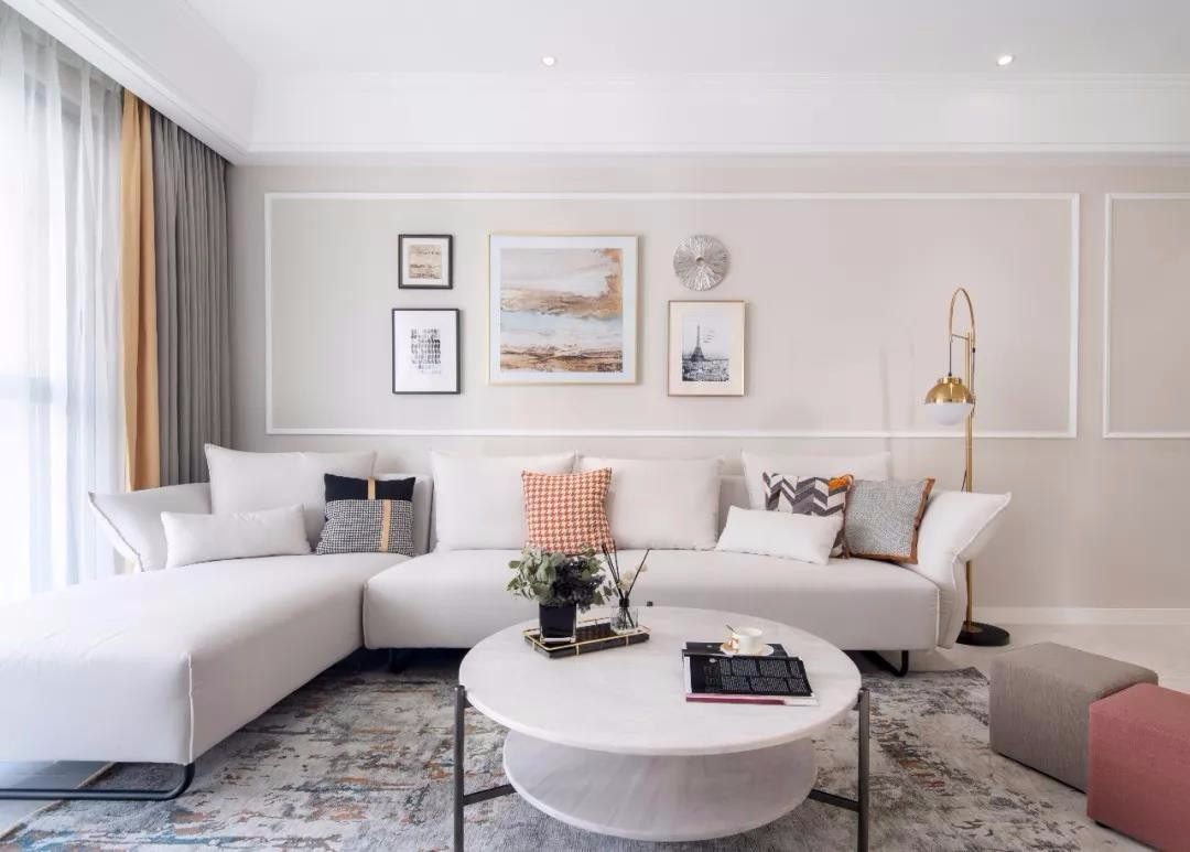 裕民龙城苑120平三居室简美装饰效果图