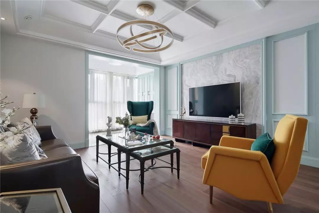 160㎡气质美式四室两厅轻奢典雅装修图片