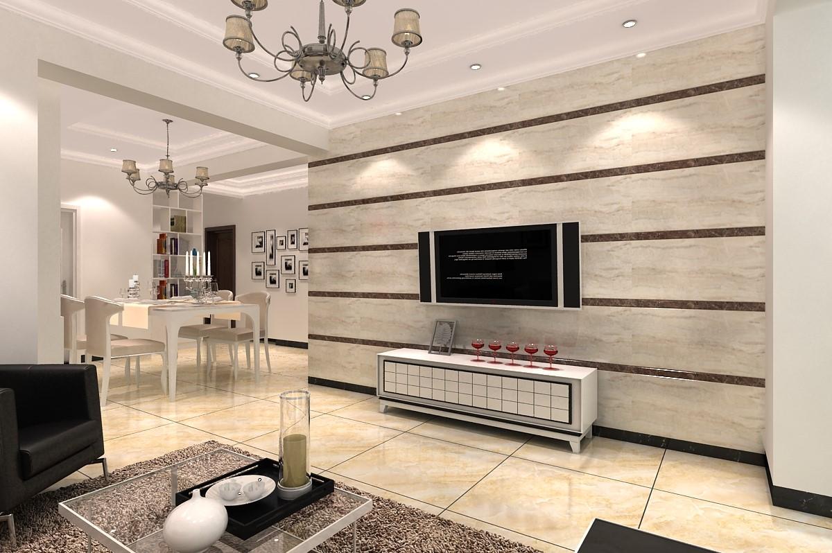 西城时代92平现代风格二居室装修效果图