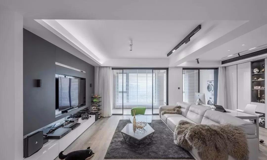 天一城158平現代簡約四居室裝飾效果圖