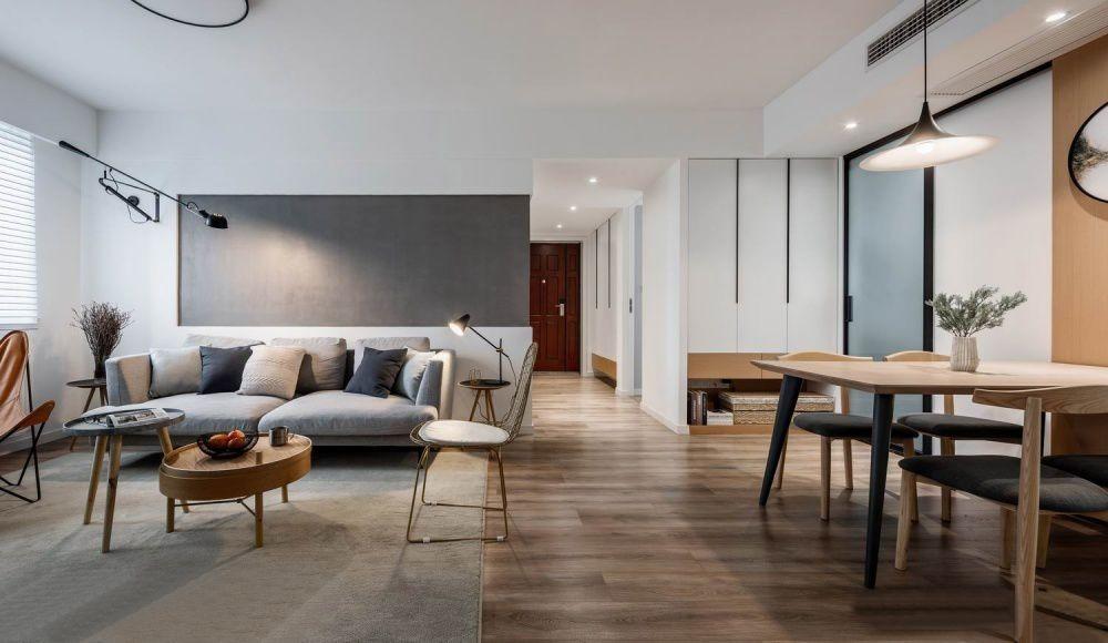110㎡现代简约主义三室两厅曼妙与时尚图片