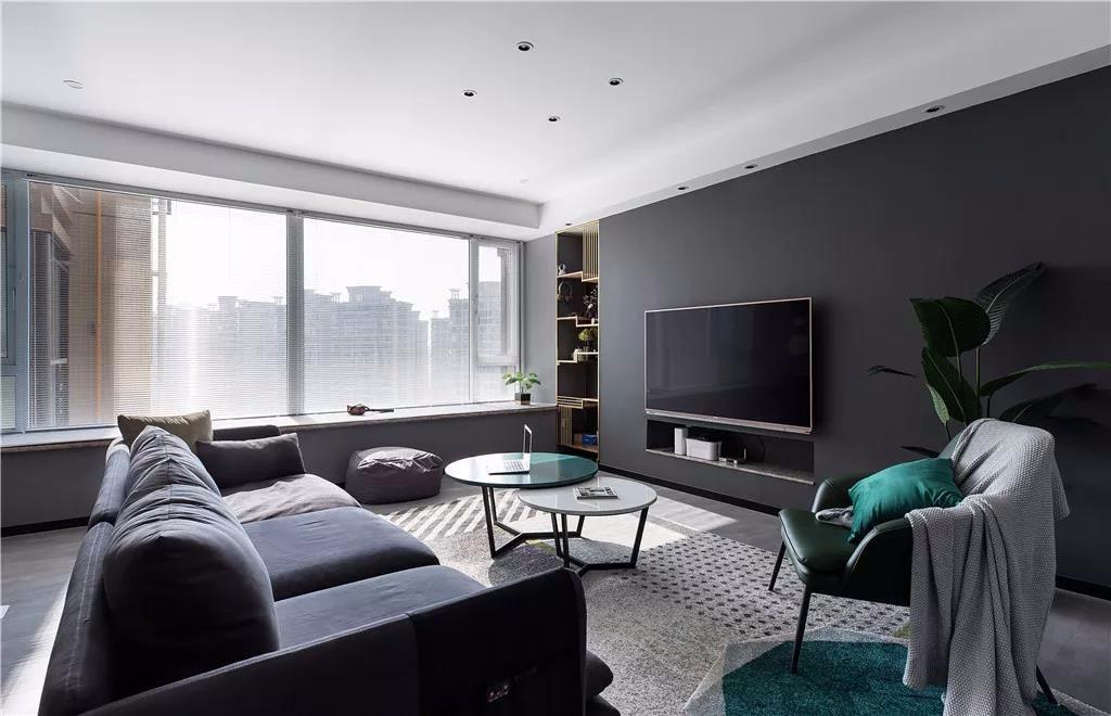 阳光汾河湾124平现代简约三房装饰效果图