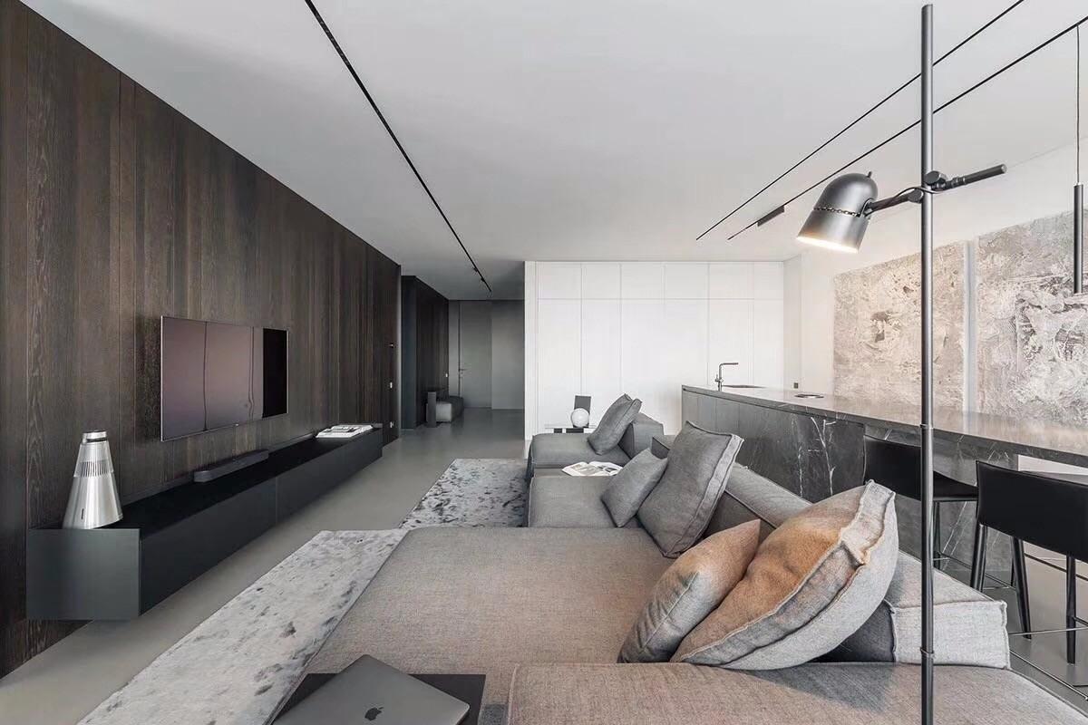 2019后现代起居室装修设计 2019后现代背景墙装修设计图片