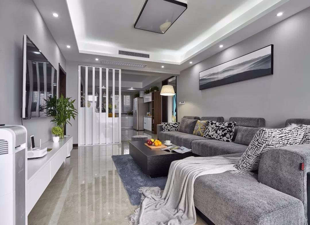 阳光汾河湾137平现代简约三室装饰效果图