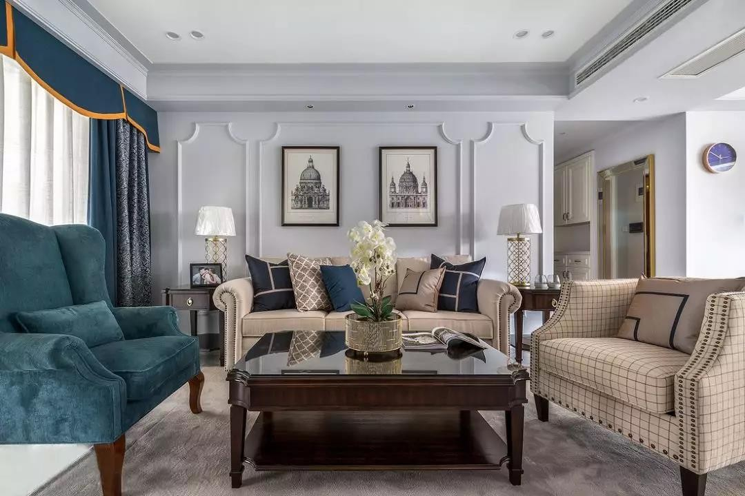 143㎡輕奢美式三室兩廳榻榻米和書房裝修圖片