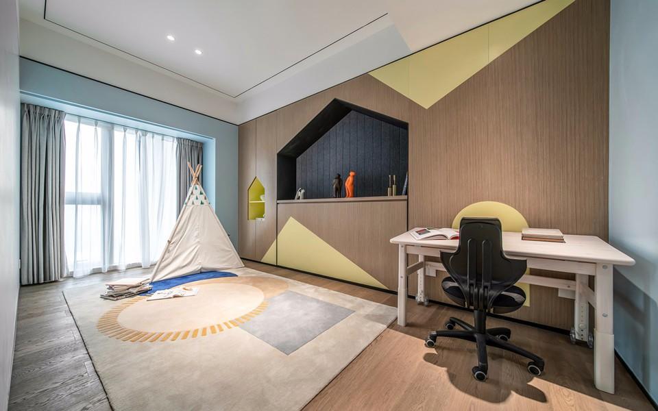 2019现代简约儿童房装饰设计 2019现代简约落地窗装修效果图大全