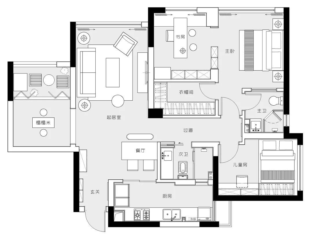 2020日式地下室效果圖 2020日式背景墻裝修設計