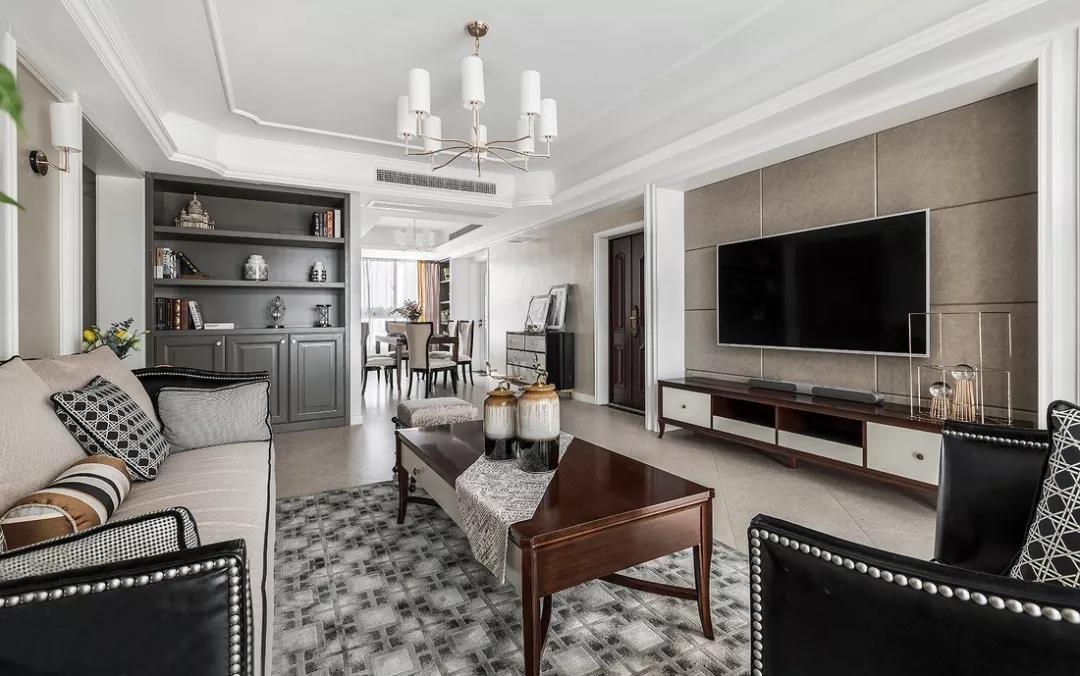 145㎡美式格調三室兩廳優雅大氣裝修圖片