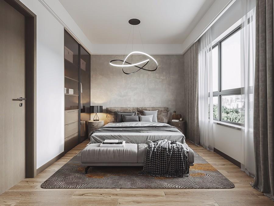 95平米現代風格三房臥室裝修效果圖