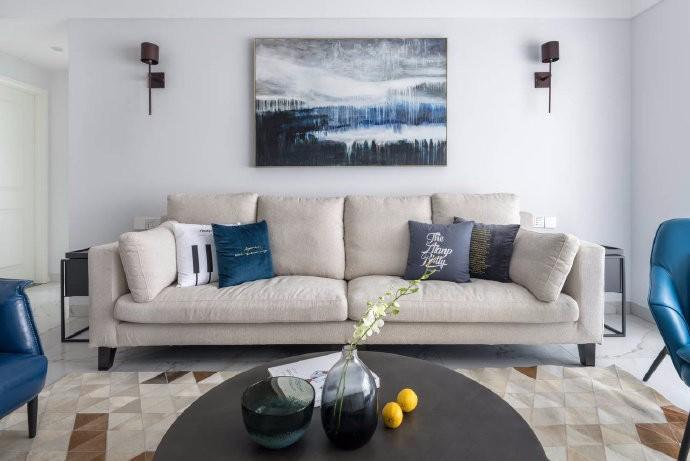 125平白色系北欧与现代简约混搭三居室效果图