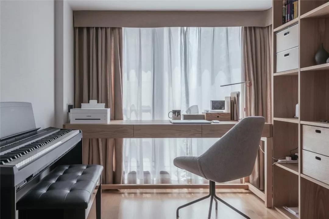 88㎡日式MUJI風三室兩廳多功能書房圖片