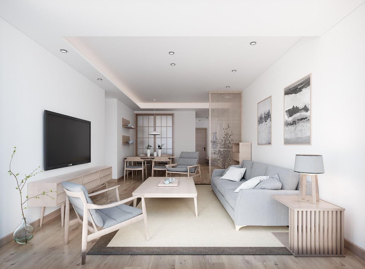 95平米两室两厅和式风格装修效果